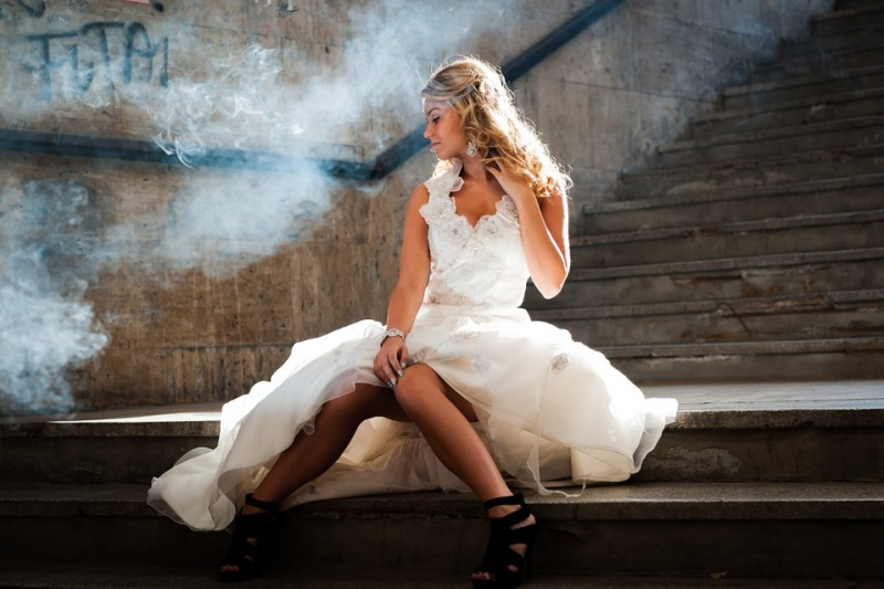 Alla ricerca di un abito da sposa riciclato e sostenibile? Abito da sposa del progetto Sowed