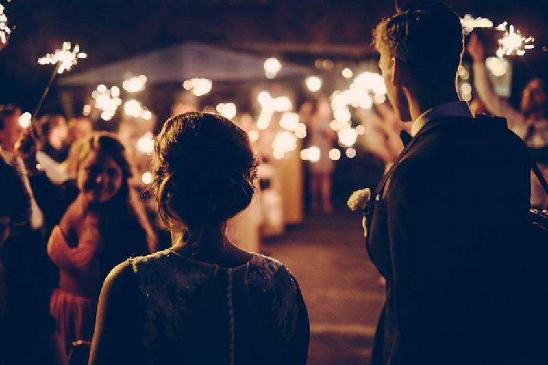 I fuochi d'artificio per un matrimonio spettacolare