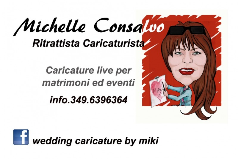 wedding caricature by miki