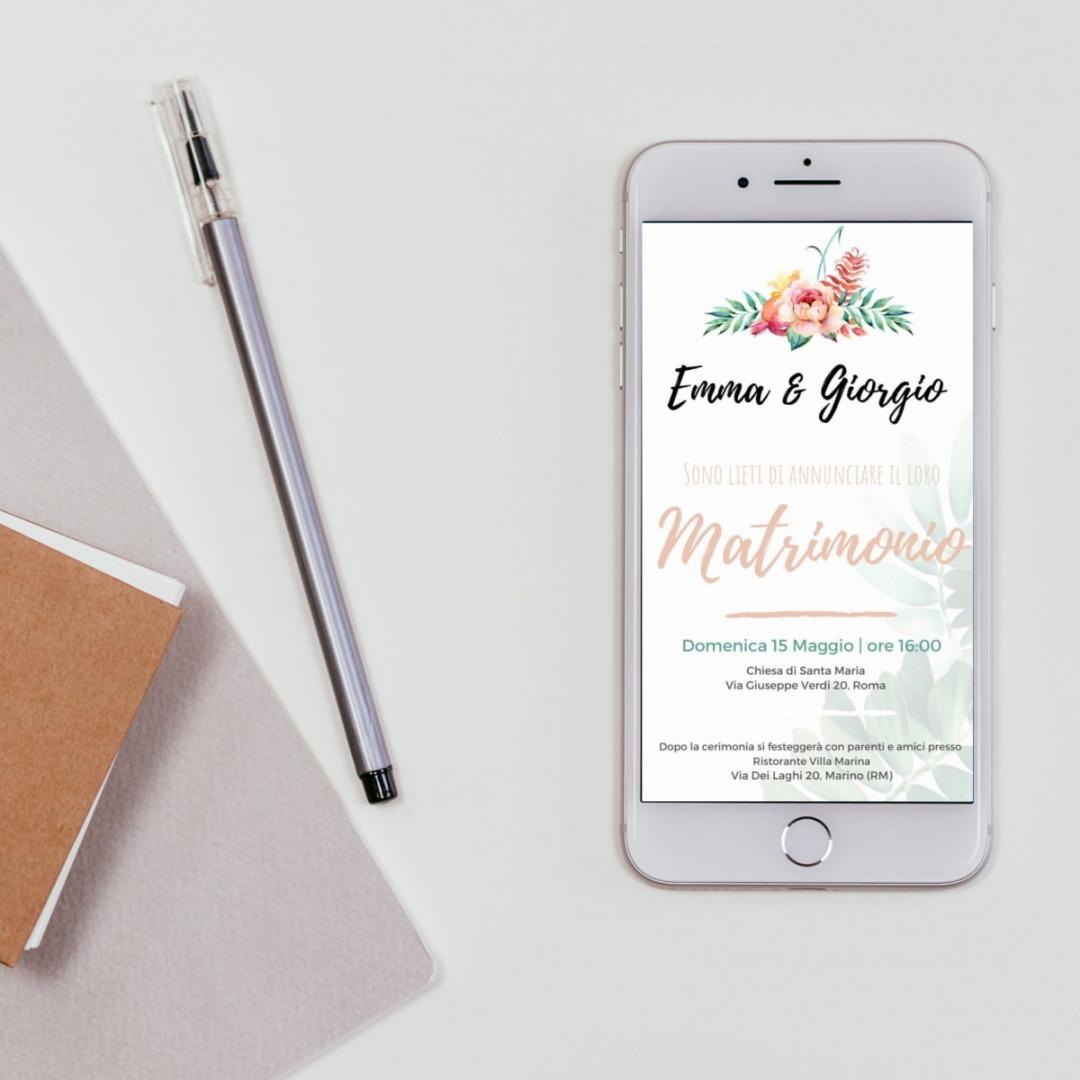 Partecipazioni Matrimonio Whatsapp.Bubblepaper Color Your Event Per Il Tuo Matrimonio